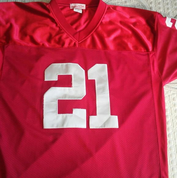 new product c7ac1 50556 Deion Sanders falcons throwback red size 52